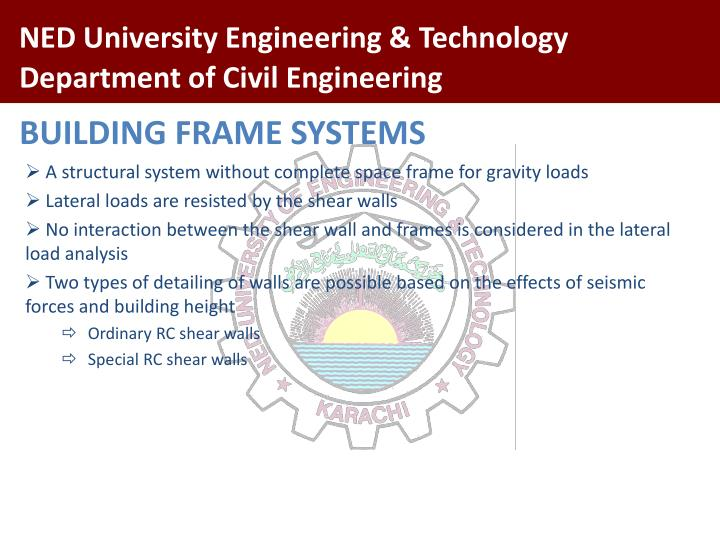 BUILDING FRAME SYSTEMS