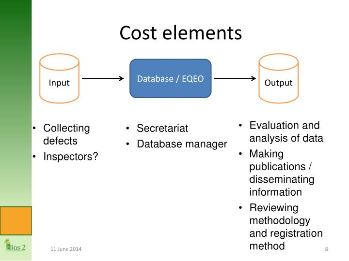 Cost elements