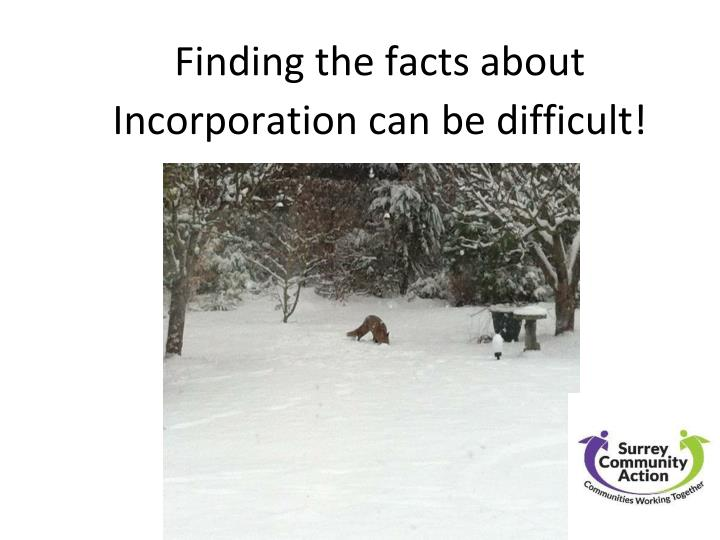 Why Incorporate