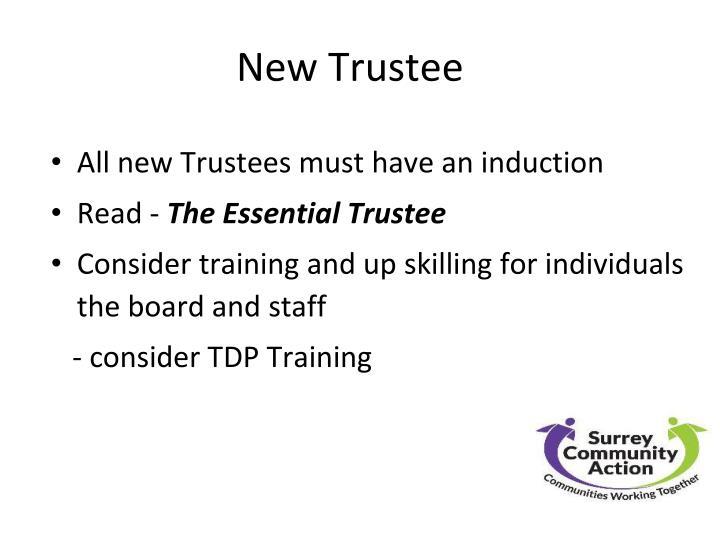 New Trustee