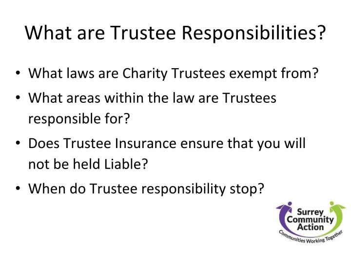What are Trustee Responsibilities?