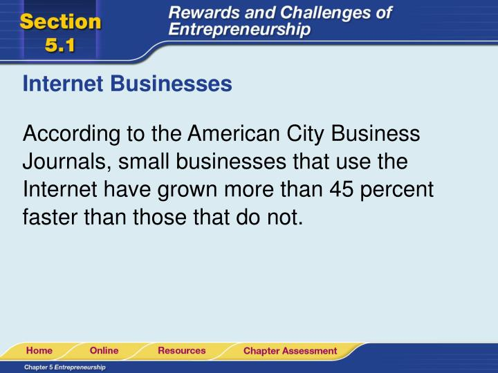Internet Businesses
