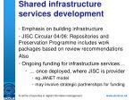 shared infrastructure services development