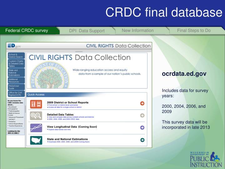 CRDC final database