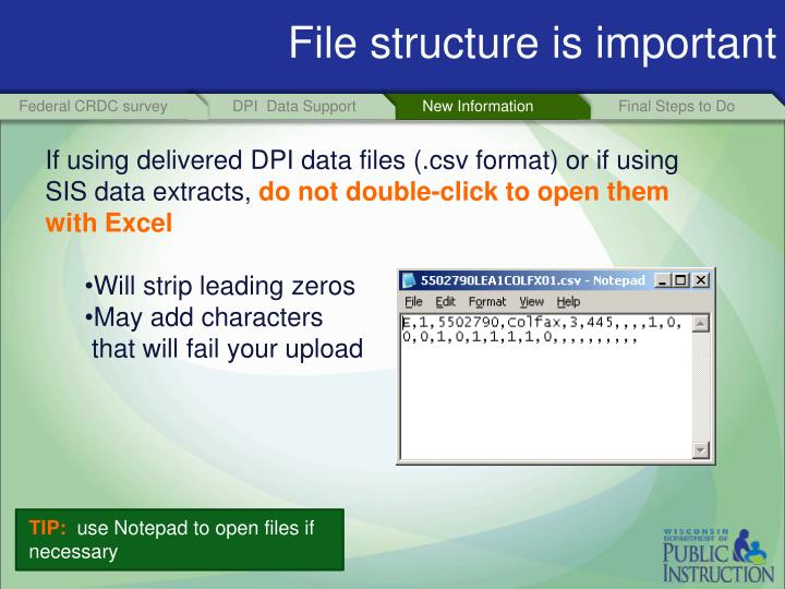 File structure is important
