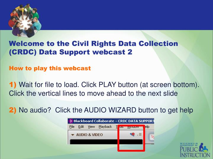 Welcome to the Civil Rights Data Collection (CRDC) Data Support webcast 2