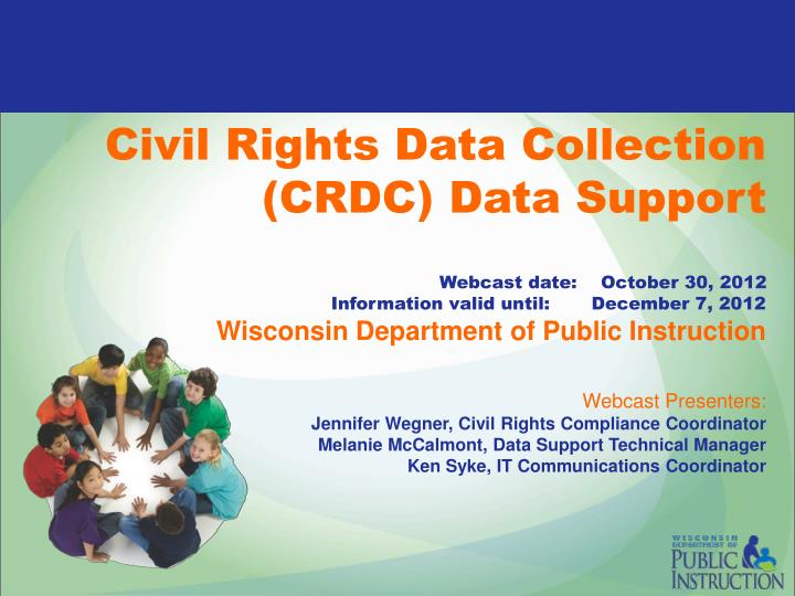 Civil Rights Data Collection (CRDC) Data Support