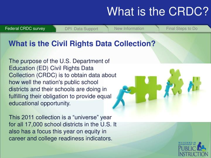 What is the CRDC?