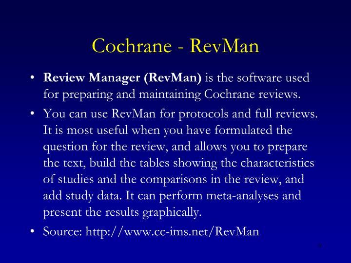 Cochrane - RevMan