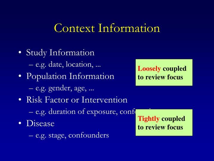 Context Information