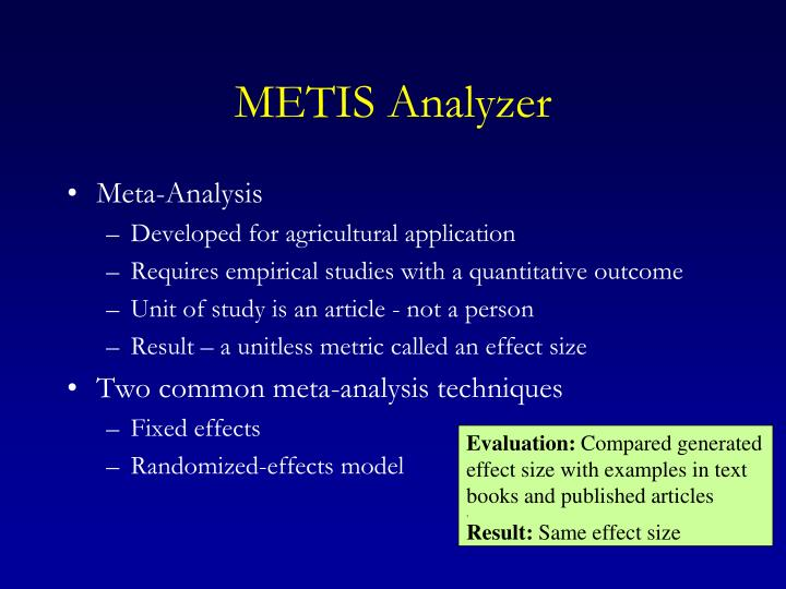 METIS Analyzer