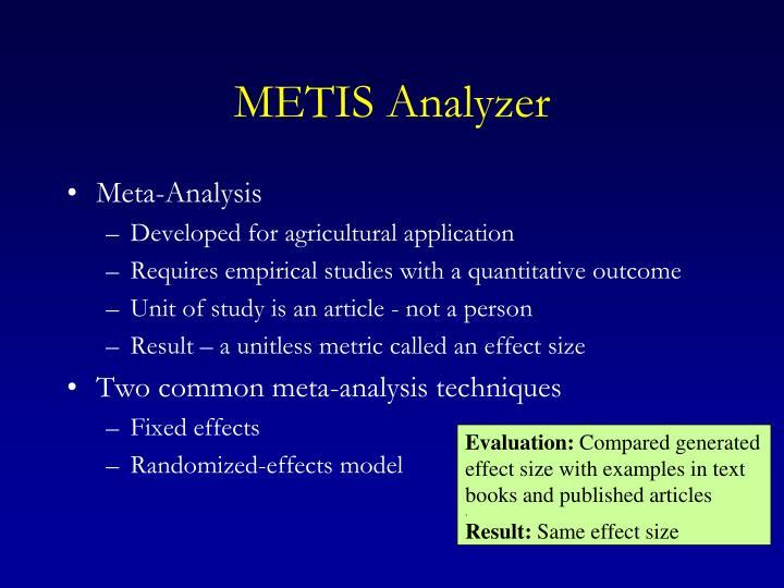 METIS Analyzer