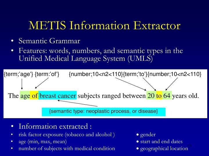 METIS Information Extractor
