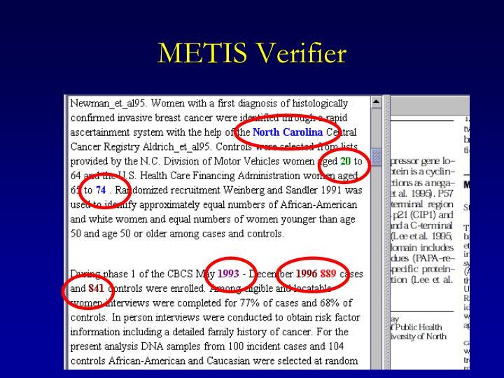 METIS Verifier