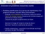 extension et probl mes industriels trait s1