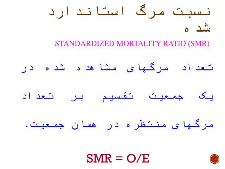 نسبت مرگ استاندارد شده