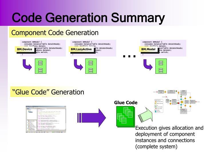 Code Generation Summary
