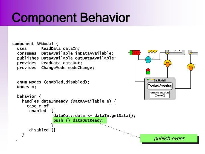 Component Behavior
