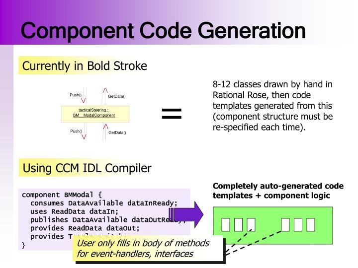 Component Code Generation