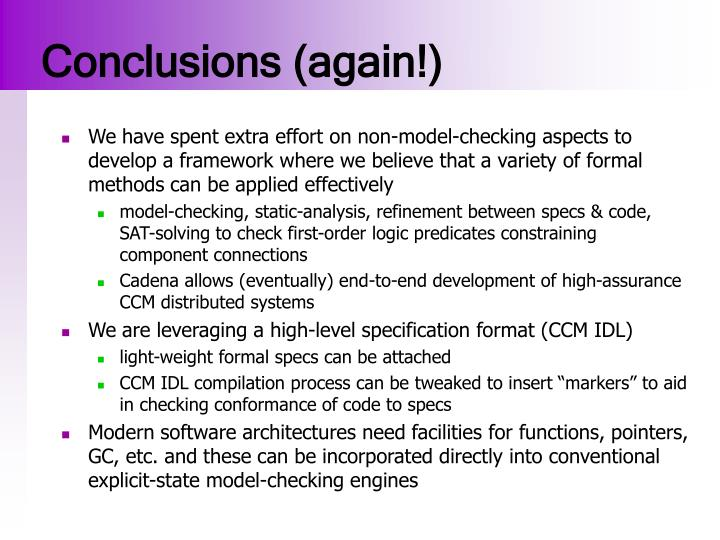 Conclusions (again!)