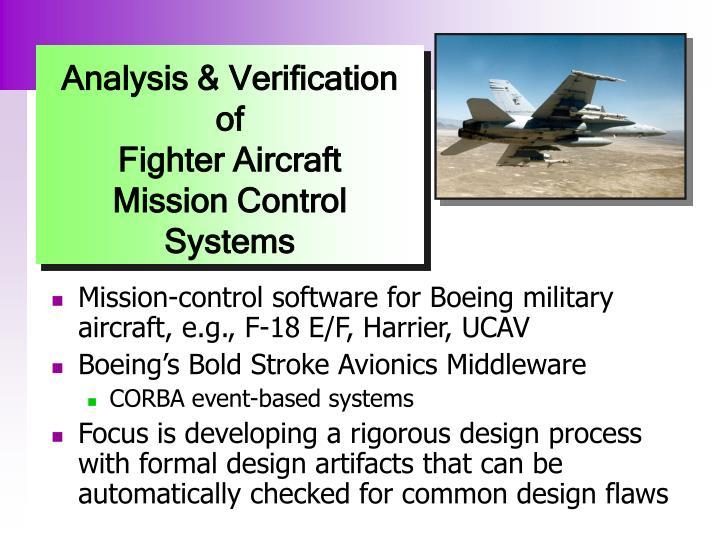 Analysis & Verification of