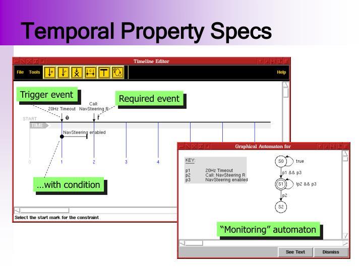 Temporal Property Specs