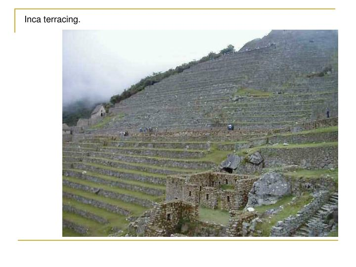 Inca terracing.