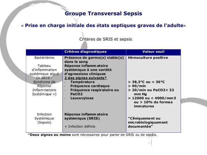 Groupe Transversal Sepsis