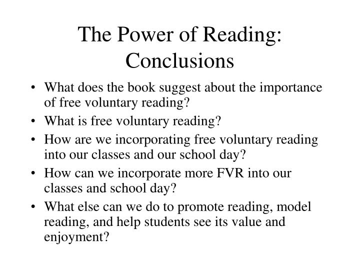 The Power of Reading: