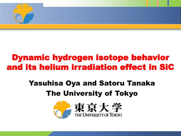 Dynamic hydrogen isotope behavior and its helium irradiation effect in sic
