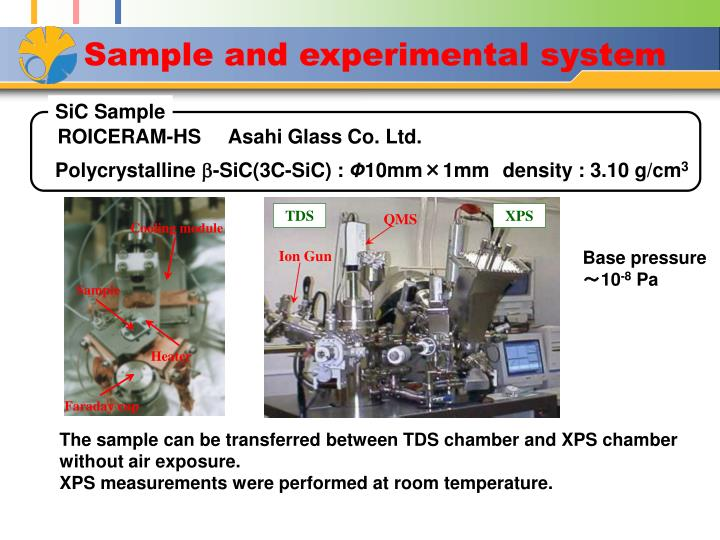 Sample and experimental system