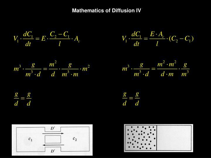 Mathematics of Diffusion IV