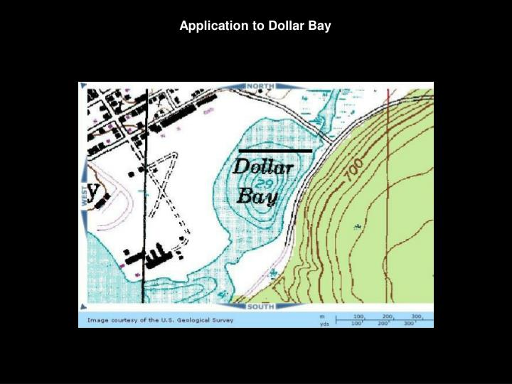 Application to Dollar Bay