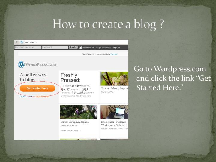 How to create a blog ?