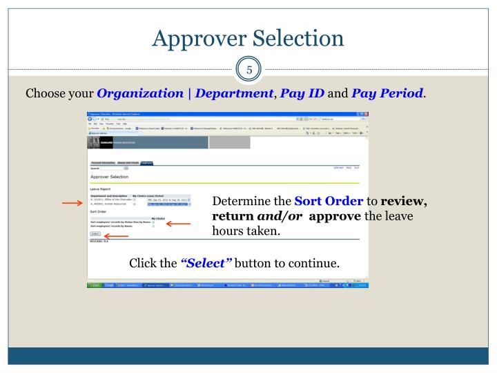 Approver Selection