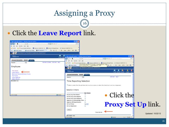 Assigning a Proxy