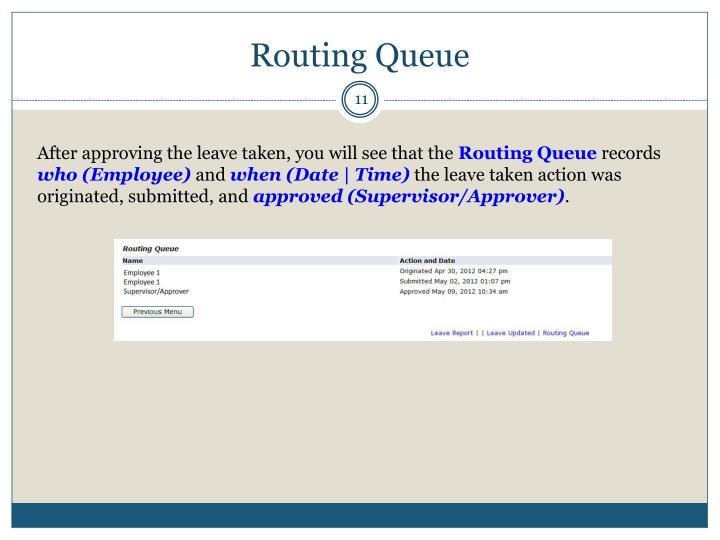 Routing Queue
