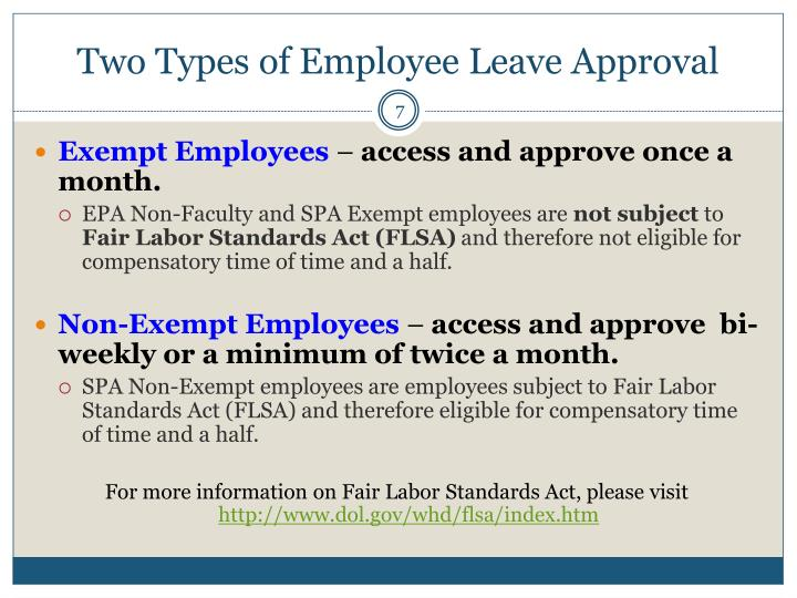 Two Types of Employee Leave Approval