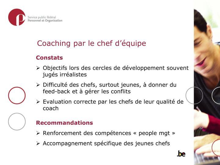 Coaching par le chef d'équipe