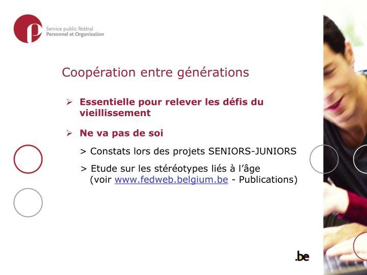 Coopération entre générations