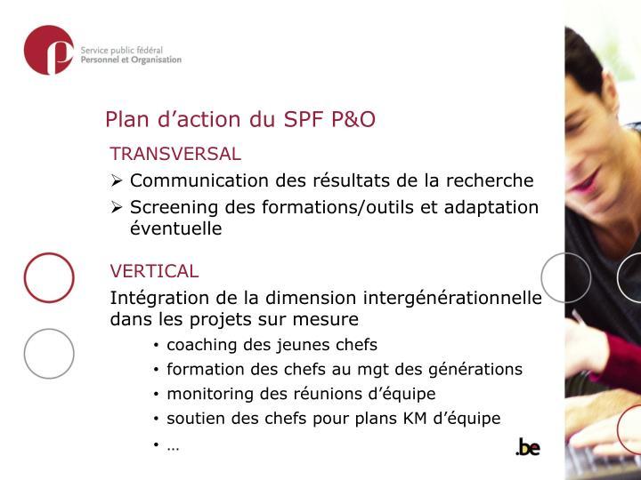 Plan d'action du SPF P&O