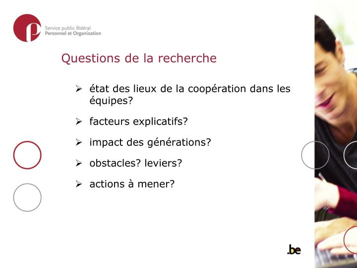 Questions de la recherche