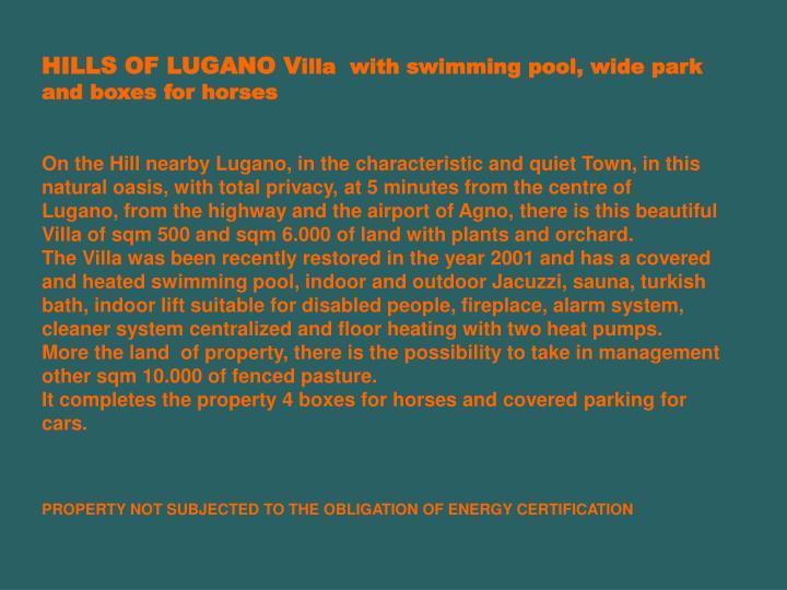 HILLS OF LUGANO V