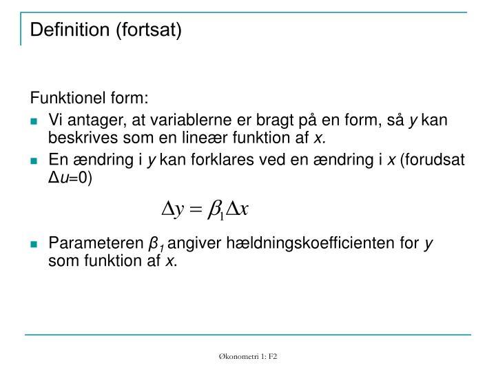 Definition (fortsat)