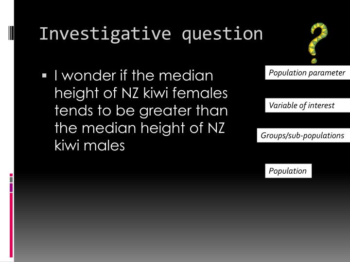Investigative question