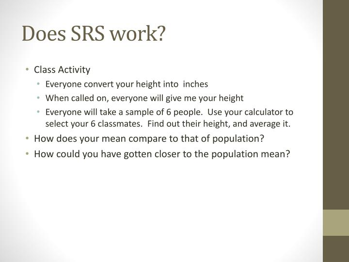Does SRS work?