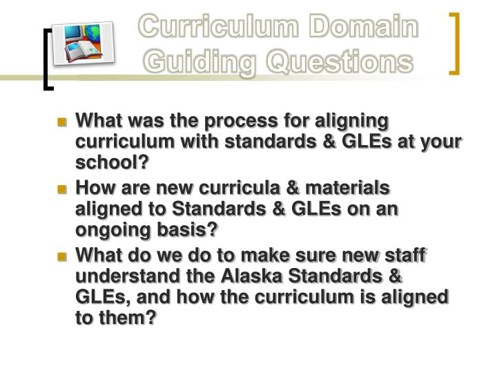 Curriculum Domain Guiding Questions