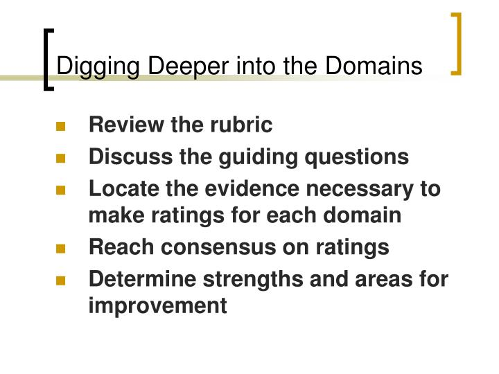 Digging Deeper into the Domains