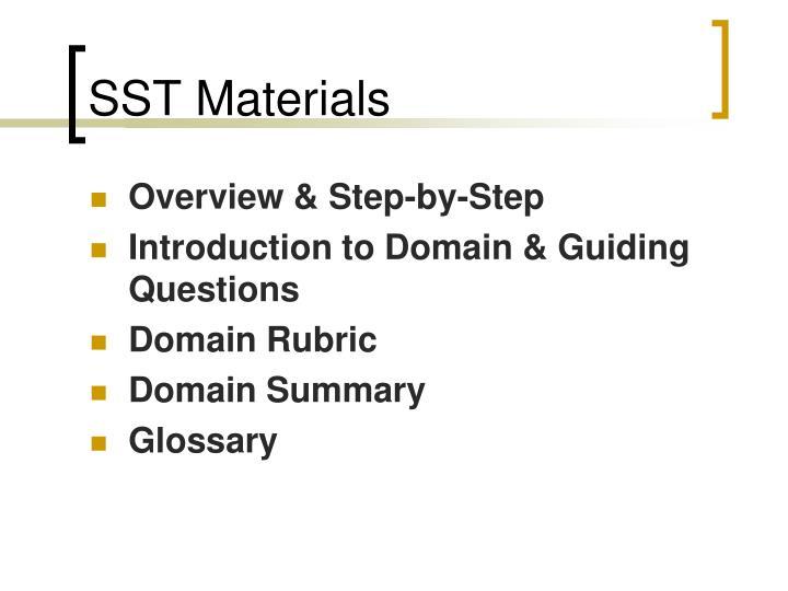 SST Materials