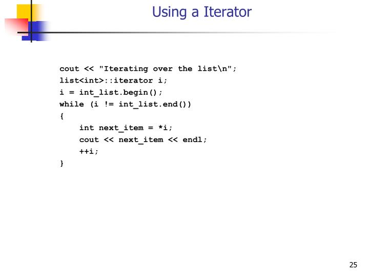 Using a Iterator